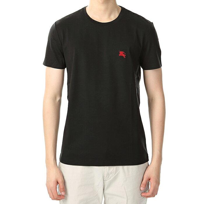 美國百分百【全新真品】Burberry 短袖 短T 素面 休閒 戰馬 logo 英倫 精品 黑色 S號 J713
