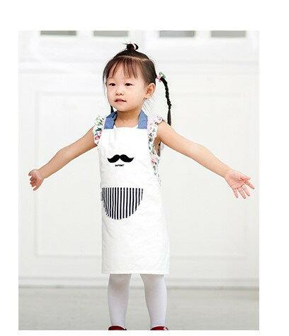 親子款 兒童圍裙 優質韓版創意可愛 防油防污圍裙純棉圍兜S?兒童 適合4-12歲兒童 另有成人款可供選擇