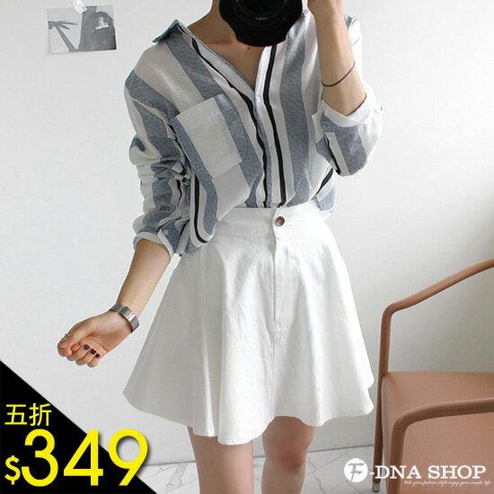 F~DNA~休閒 配色條紋長袖襯衫^(2色^)~ESR1738~
