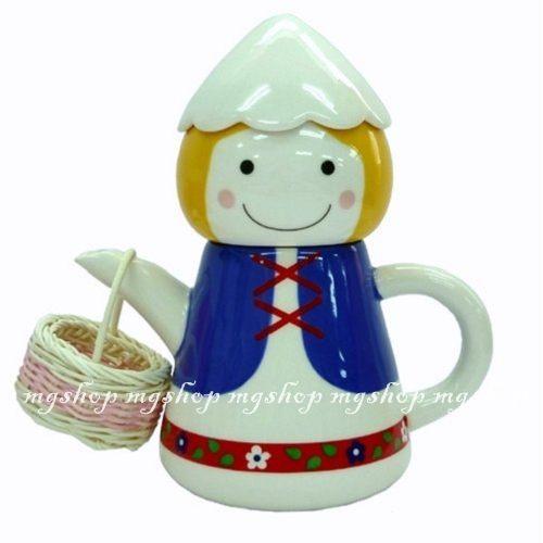 日本進口SUNART TEA FOR ONE阿爾卑斯山男孩 杯茶壺組