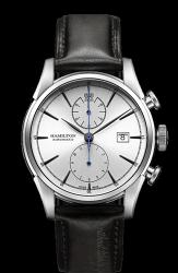 Hamilton 漢米爾頓 JazzMaster 新自由宣言計時機械腕錶 H32416781 銀 黑 42mm