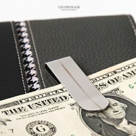 鈔票夾 極簡線條背身鏤空鋼製收納式錢夾 隨身配件 輕鬆攜帶 完美版型 柒彩年代【NL158】 抗氧化 - 限時優惠好康折扣