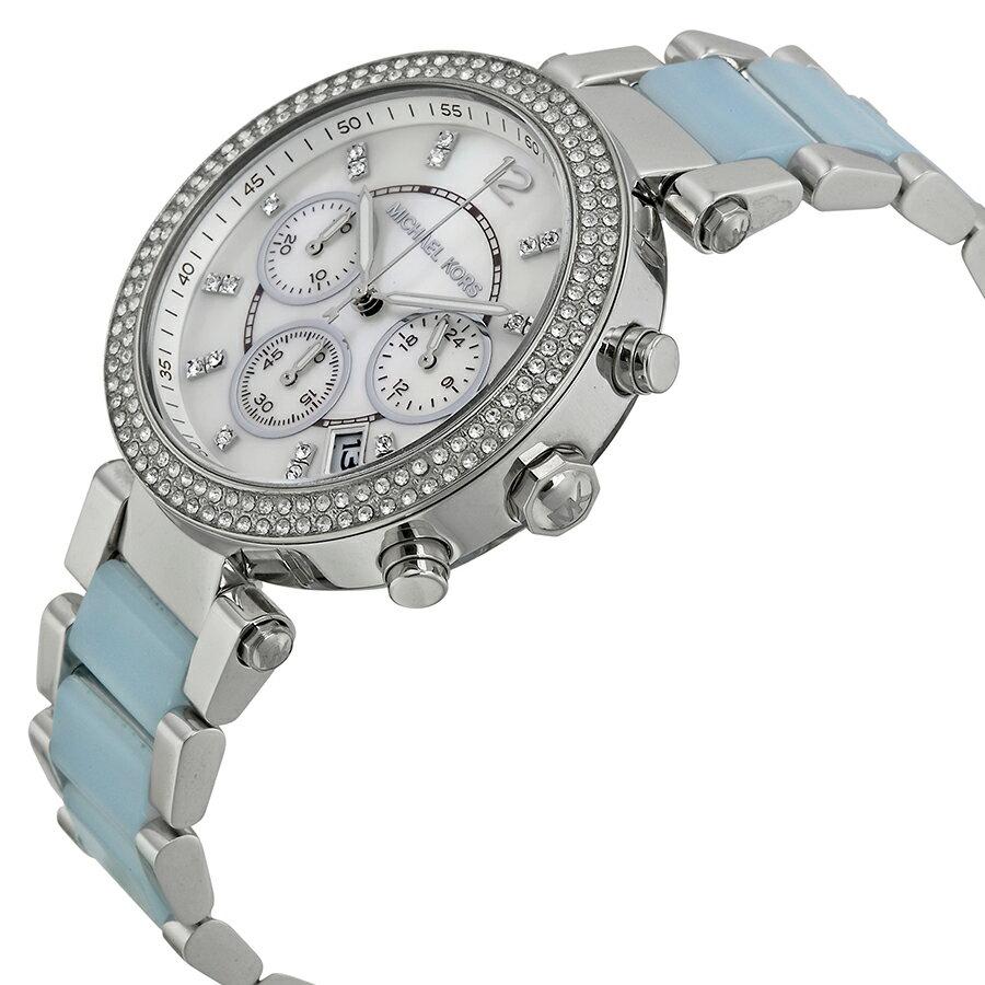 美國Outlet 正品代購 Michael Kors MK 三環 淺藍精鋼 滿鑽 手錶 腕錶 MK6138 5