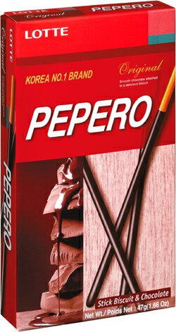 樂天LOTTE PEPERO巧克力棒 47g (10盒) / 組 1