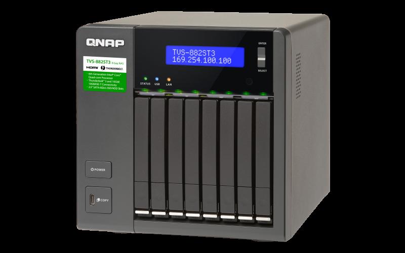 QNAP 威廉通 TVS-882ST3-i7-16G 8Bay NAS 網路儲存伺服器 4