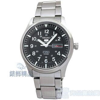 【錶飾精品】SEIKO手錶 SNZG13K1 精工5號 SPORTS自動上鍊機械黑面鋼帶男錶 全新原廠正品