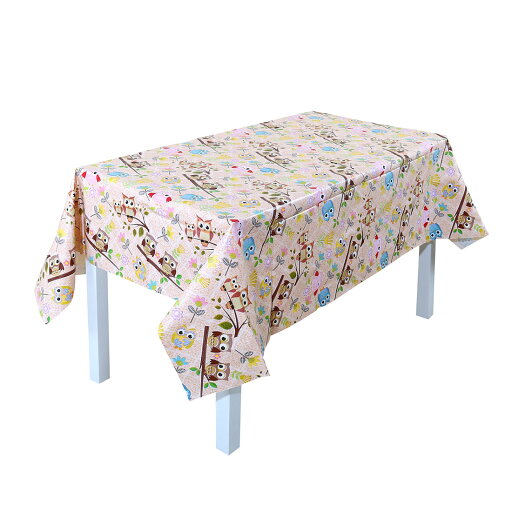 Wipe Clean PVC Vinyl Tablecloth Dining Kitchen Table Cover Xmas Owl 137x200cm