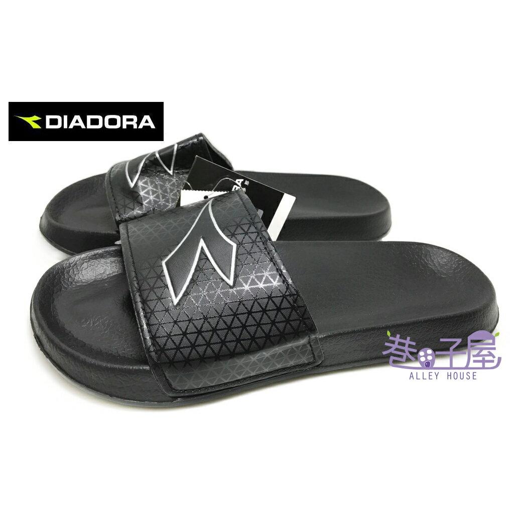 ~巷子屋~義大利國寶鞋~DIADORA迪亞多納 男款減壓一片式 拖鞋 ^~3250^~ 黑
