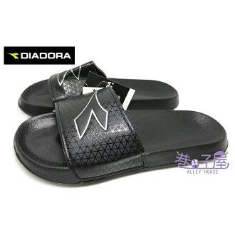 【巷子屋】義大利國寶鞋-DIADORA迪亞多納 男款減壓一片式運動拖鞋 [3250] 黑 超值價$198