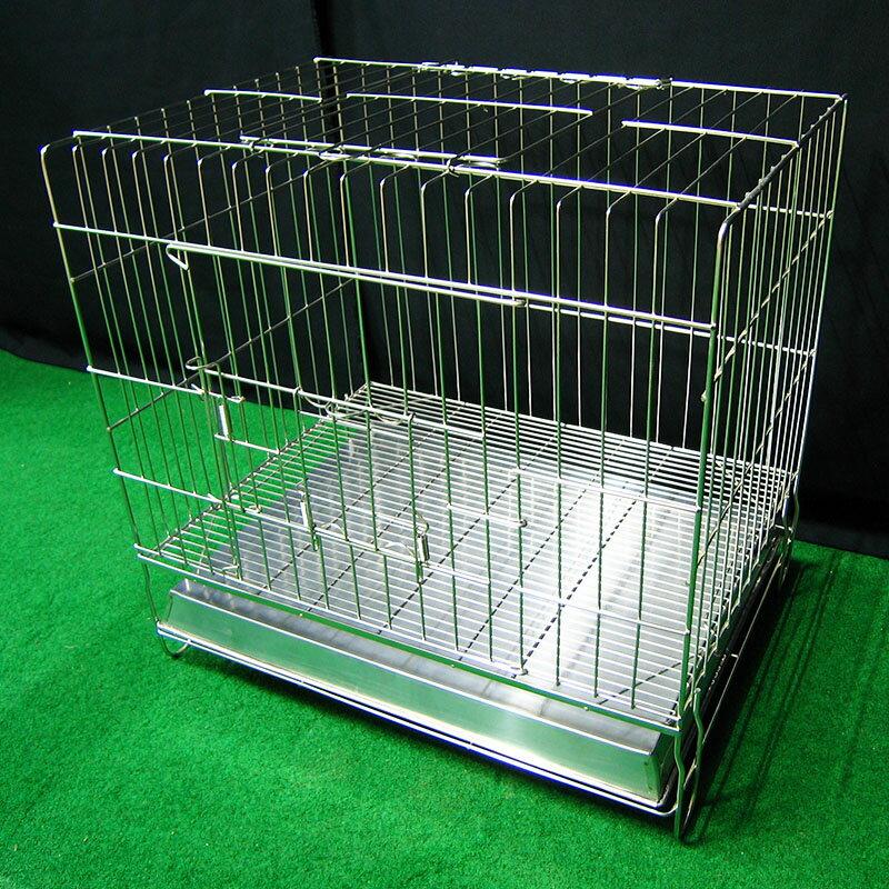 寵物屋 兔窩 柵欄 吊籠 2尺固定式兔籠 可抽取底網 2門 不鏽鋼固定2尺白鐵線籠 空間特工