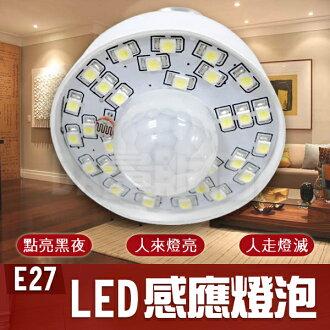 《居家用品任選四件9折》樂天最低價 E27 LED 感應 燈泡 高亮度 人體 紅外線 感應燈 節能燈 省電 環保(17-1520)