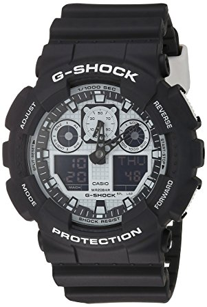 Casio G-Shock GA-100BW-1A White and Black Series Luxury Watch - Black / One Size 0