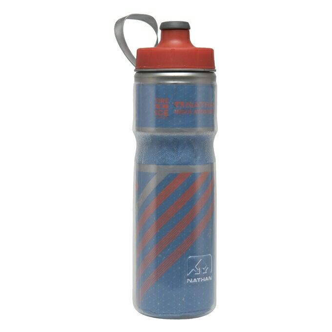 騎跑泳/勇者-NATHAN 冰火保冷反光水壺(活動式手把)Fire & Ice 2 Bottle(藍/橘)