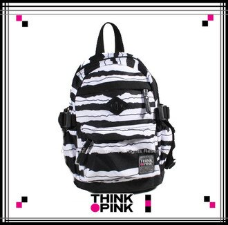 【騷包館】THINK PINK 潮流專櫃品牌 幻彩系列 MINI童後背包 斑馬紋 TP-115-7606-018