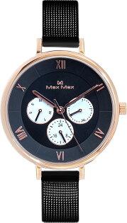 【完全計時】手錶館│MaxMax都會風MAS7024-1指南三眼系列316ML經典米蘭錶帶個性黑