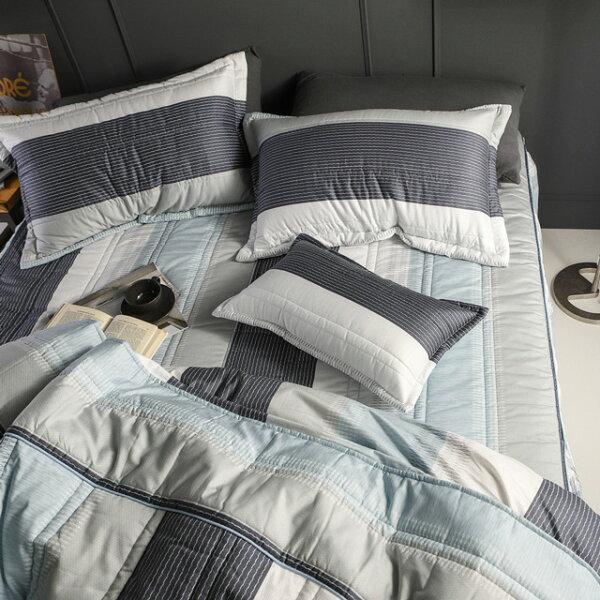 床罩組雙人【利物浦】五件式床罩組精梳棉,台灣製絲薇諾加碼送大型洗衣袋乙個