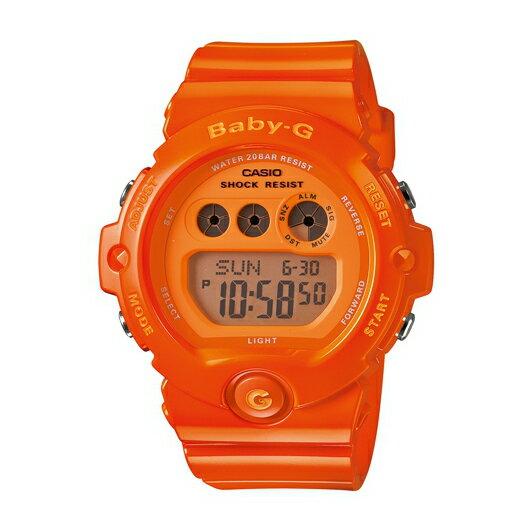 CASIO BABY-G BG-6902-4B青春亮彩(亮橘)數位流行腕錶/橘面45mm