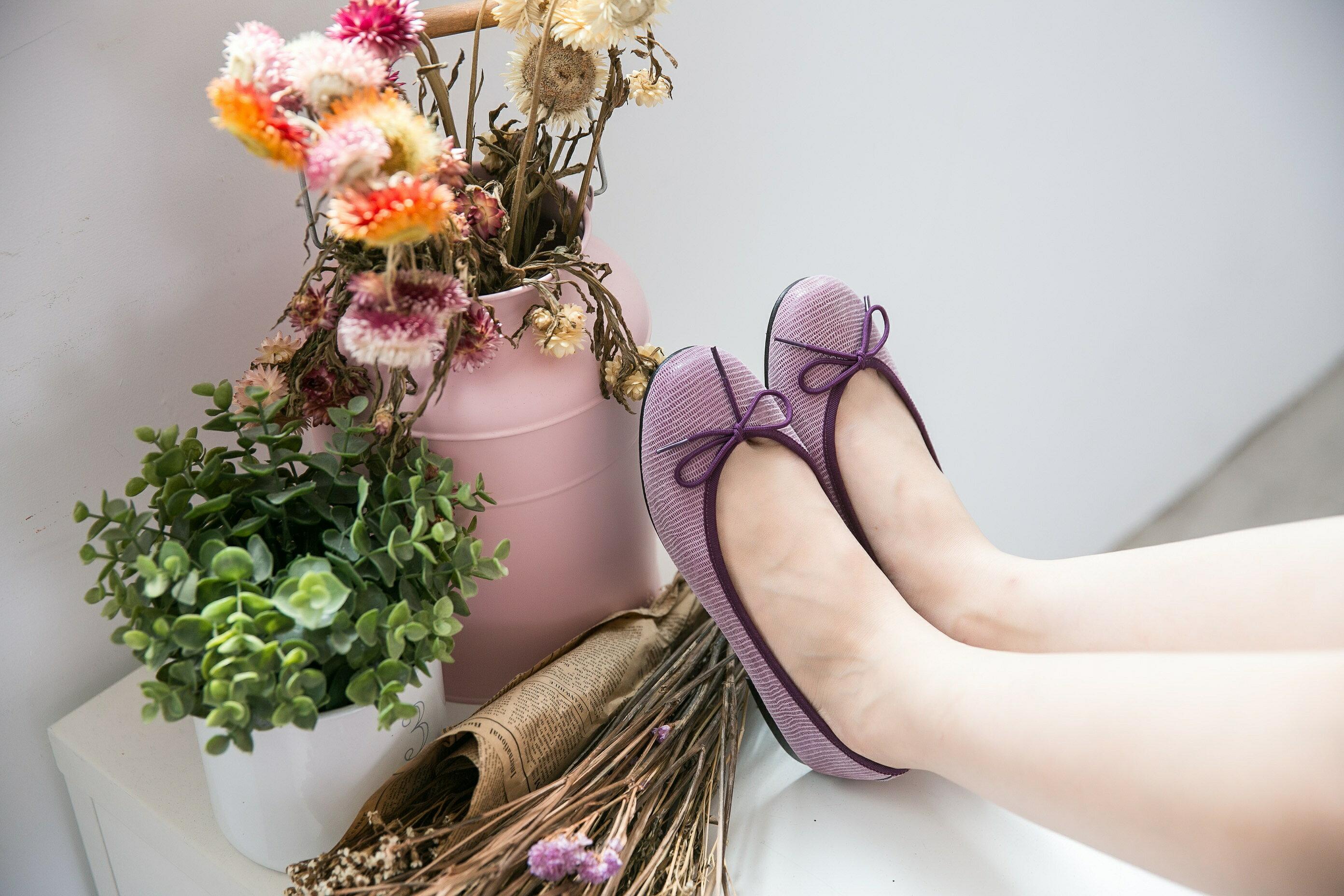 Aimez La Vie 經典芭蕾舞真皮平底娃娃鞋-動物蜥蜴紋系列(共三色) 2