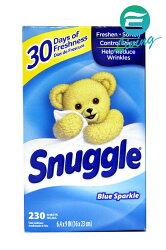 SNUGGLE 烘衣柔軟片(清新香) 藍色 230片 #45119