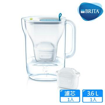【德國BRITA】Style 3.6L純淨濾水壺_藍色
