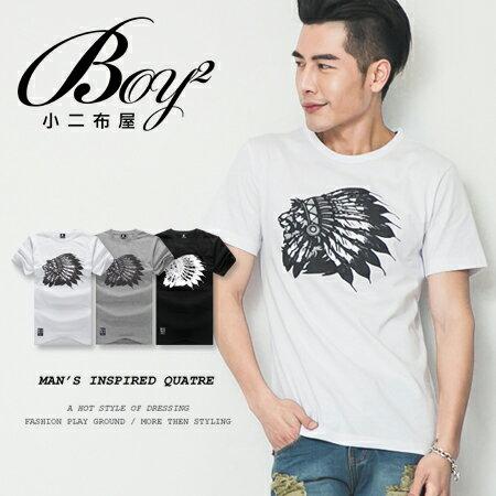 ☆BOY-2☆【KKL2010】韓男裝獅子印地安短袖T桖 0