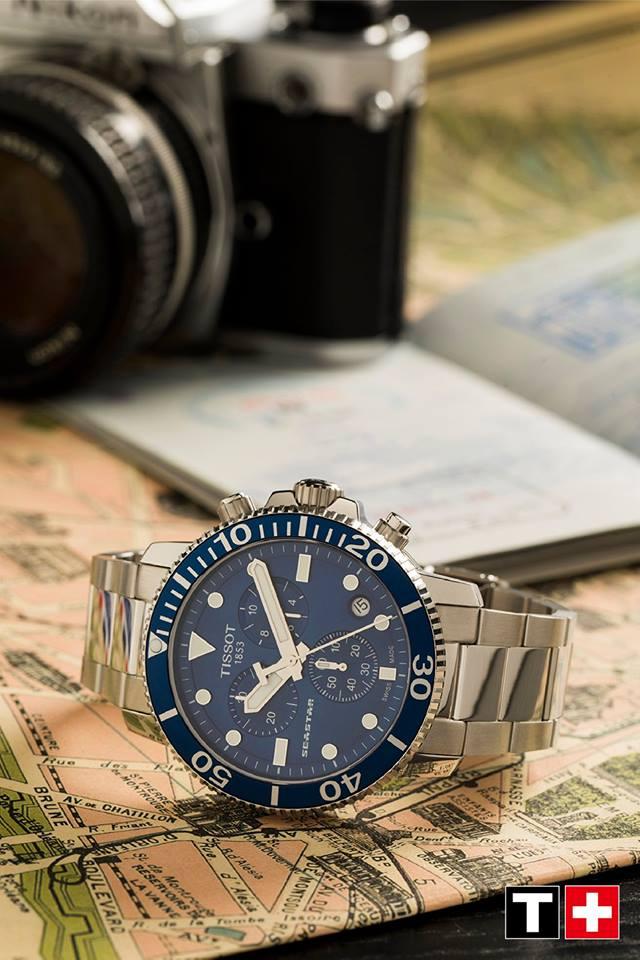 TISSOT 天梭 T1204171104100 SEASTAR海洋之星 潛水錶 藍 鋼帶 45.5mm 1