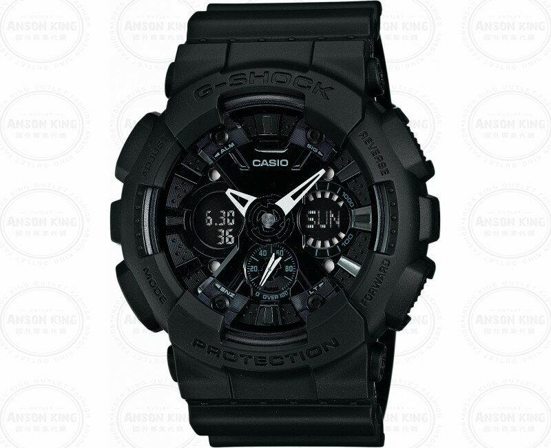 國外代購 CASIO G-SHOCK GA-120BB-1A機車儀表系列 三眼雙顯 防水手錶腕錶電子錶男女錶 霧黑