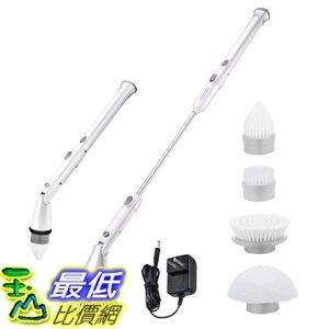 Homitt電動旋轉洗滌器 帶可調頭 360無線浴室清潔器 [美國代購]