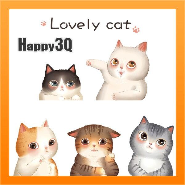 可愛貓咪牆面裝飾貼紙床頭貼紙店面布置家居佈置溫馨貓咪群壁貼【AAA4074】