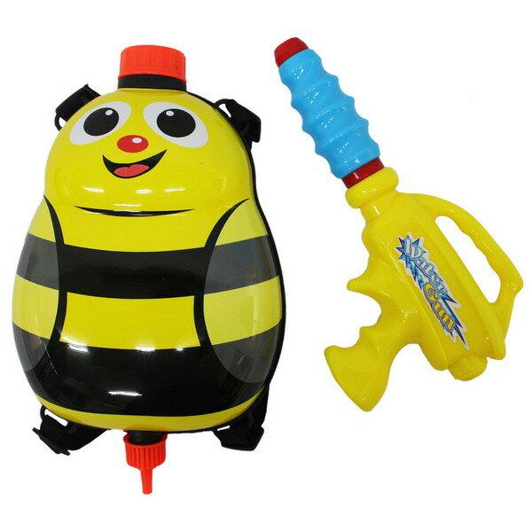 小蜜蜂背包水槍 後背式水槍 槍長24cm  一個入 ~ 促180 ~ 可背式動物 加壓式強