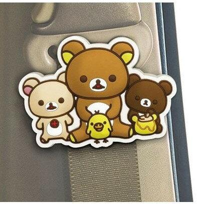 【真愛日本】17022800005安全帶扣-懶熊3匹san-x懶熊啦啦熊奶熊蜂蜜熊車用百貨安全帶扣