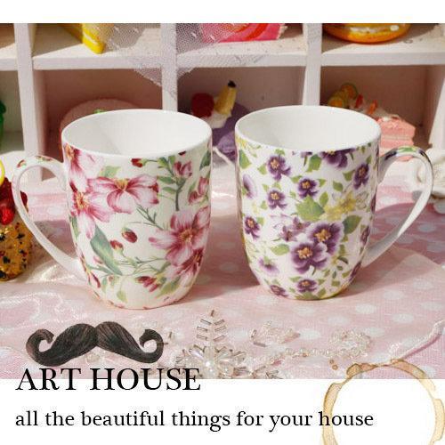 彩色烤花骨瓷陶瓷口杯 水杯 茶杯 咖啡杯 馬克杯 杯子 奶杯喝水杯(一個價)(圖一)