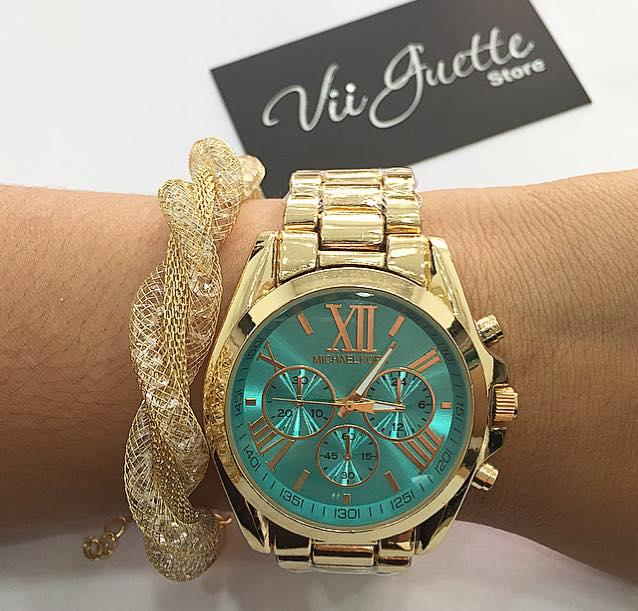 美國 Outlet 美國正品代購 Michael Kors MK 不鏽鋼 藍面 玫瑰金錶帶 三環計時日曆手錶腕錶 MK6164【輸入:coupon03 現折50】 6