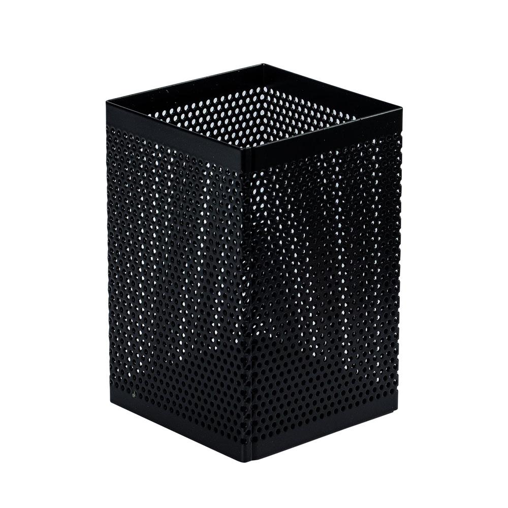 得力Deli 方形拉網筆筒-黑色(908)