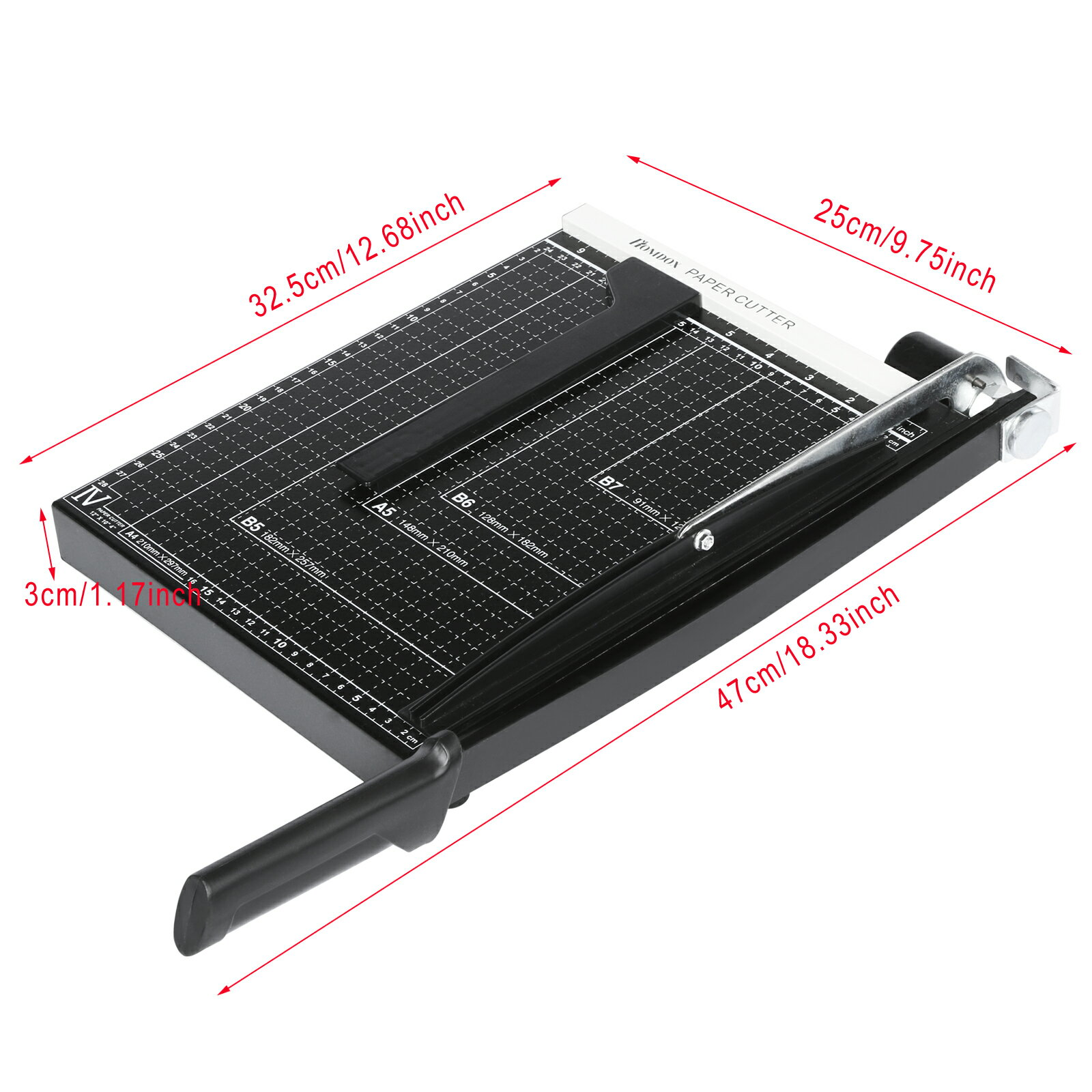 Black Steel Heavy Duty A4 Paper Cutter Trimmer Scrap Machine 3