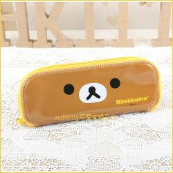 asdfkitty可愛家☆san-x拉拉熊大臉防水環保餐具袋/筆袋/收納袋-韓國製