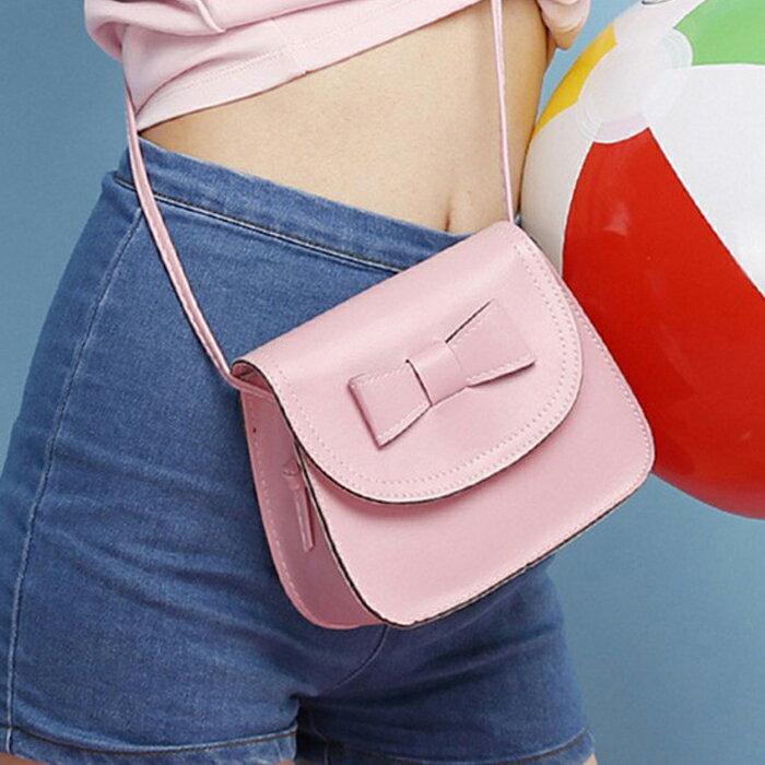糖衣子輕鬆購【DZ0009】韓版時尚休閒潮女蝴蝶結迷你小方包斜跨包單肩包