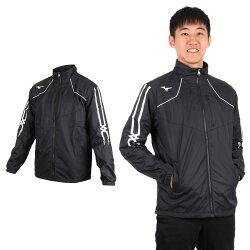 MIZUNO 男防潑水保暖外套(免運 美津濃 慢跑 路跑 立領外套【03391298】≡排汗專家≡