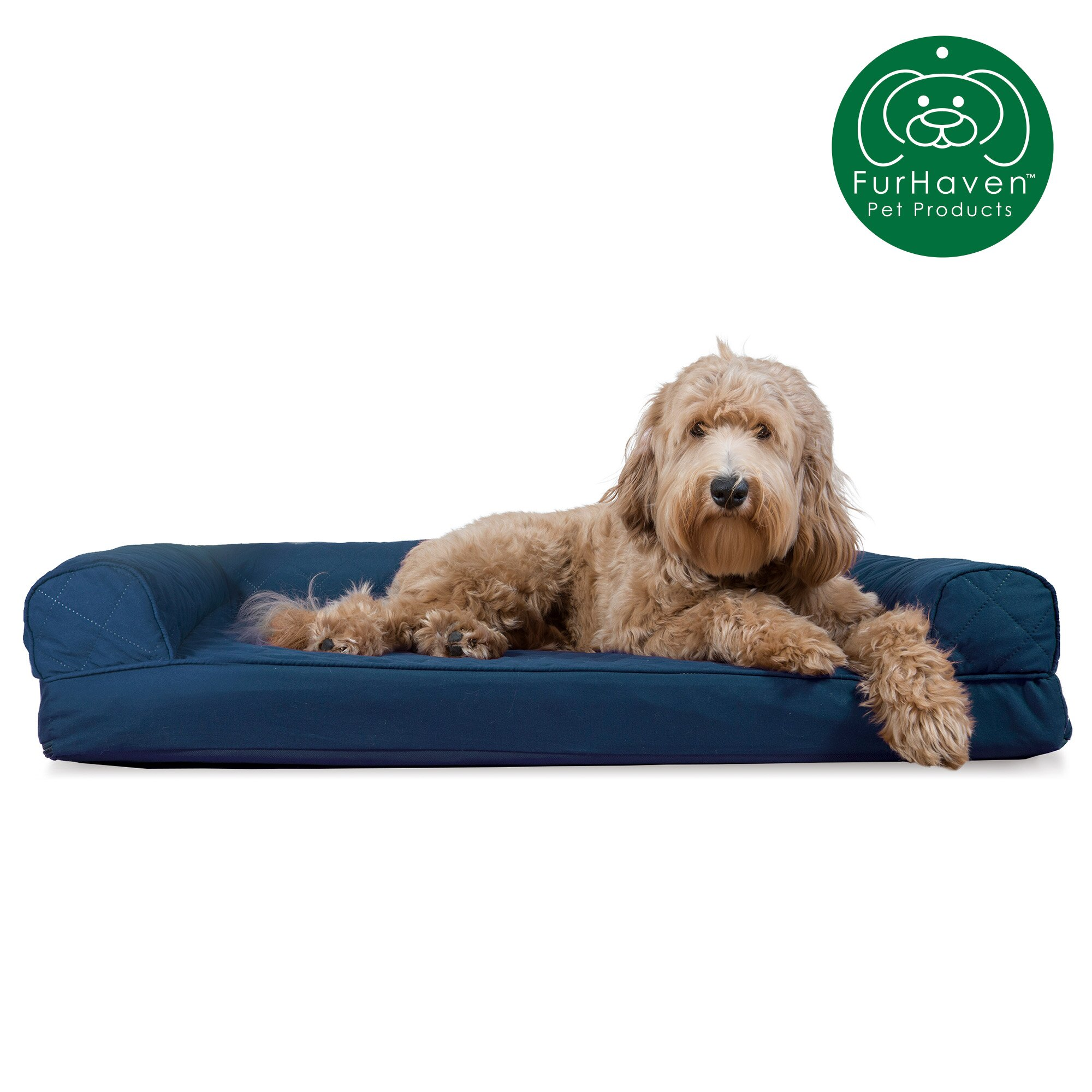 Outstanding Furhaven Pet Dog Bed Quilted Cooling Gel Sofa Pet Bed For Dogs Cats Available In Multiple Colors Sizes Gmtry Best Dining Table And Chair Ideas Images Gmtryco