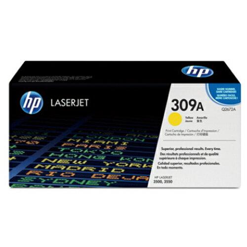 【HP 碳粉匣】Q2672A / 309A 黃色原廠碳粉匣