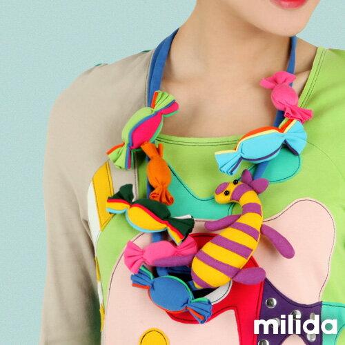 【Milida,全店七折免運】-項鍊飾品-糖果