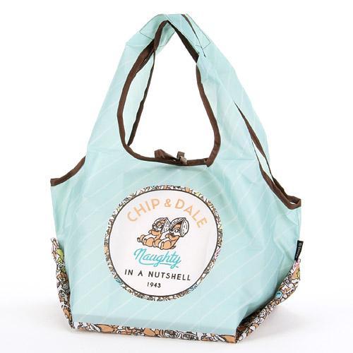 大賀屋 奇奇蒂蒂 環保袋 購物袋 手提袋 收納袋 袋子 收納 奇奇 蒂蒂 迪士尼 日貨 正版 授權 J00010520