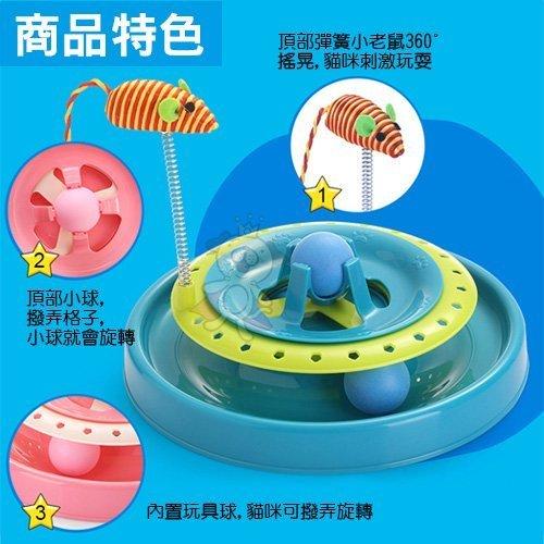 48小時出貨 寵喵樂《貓咪遊樂盤》彈簧小老鼠、環保材質、圓潤光滑 1