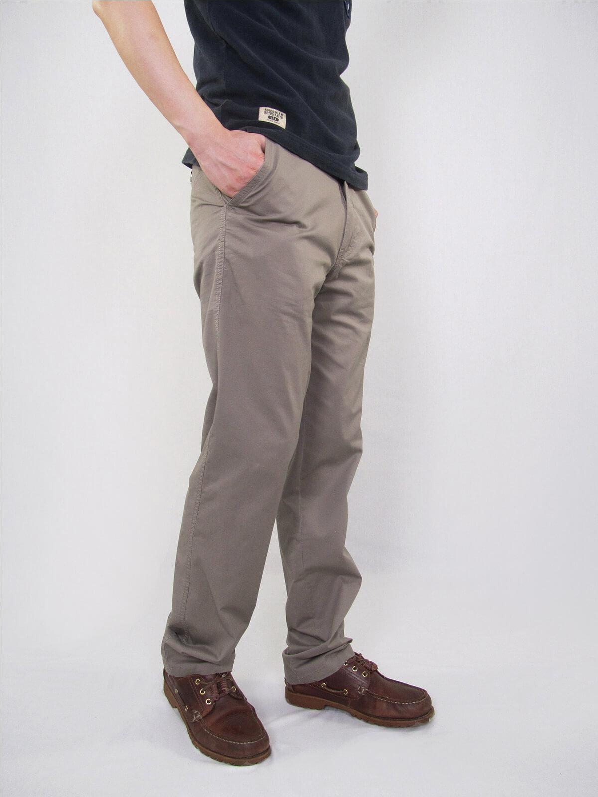 加大尺碼精梳棉平面休閒長褲 大尺寸顯瘦彈性長褲 時尚卡其長褲 PANTS (327-8106-01)銀灰色、(327-8106-02)卡其色 L XL 2L 3L 4L 5L (腰圍30~40英吋) [實體店面保障] sun-e 1