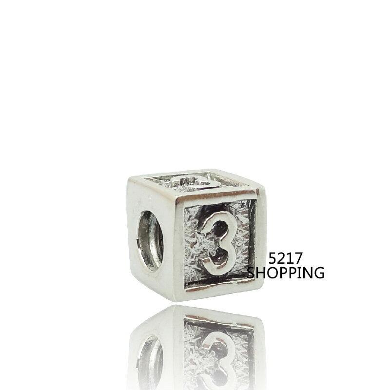 ~數字3~charms 925純銀墜子 925銀飾墜飾 珍珠 琉璃 水晶 英文字母 純銀串