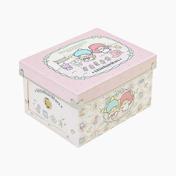 【真愛日本】17070600003 組合式收納箱S-TS粉+AAUB 三麗鷗家族 Kikilala 雙子星 收納盒 置物 日用品