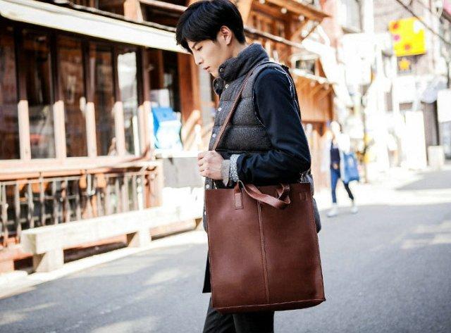 【JP.美日韓】 韓國 手提 托特包 男 手提包 皮革 只剩黑色的喔