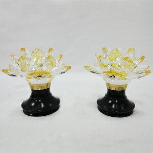 3寸5高蓮花水晶燈(黑金)