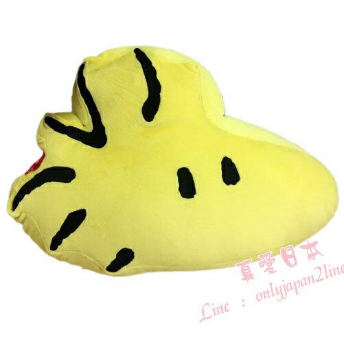 【真愛日本】16090500008超棉柔立體造型抱枕-塔克鳥黃  史努比 SNOOPY 絨毛 抱枕 靠枕 售完不補