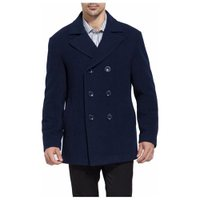 Deals on BGSD Mens Mark Classic Wool Blend Pea Coat